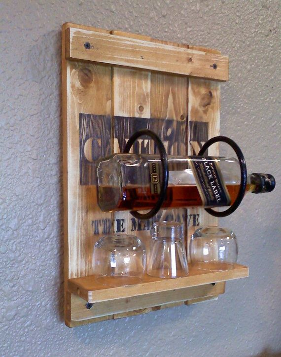 Man Cave Bottle Rack  Shot glass rack by AspenBottleHolders