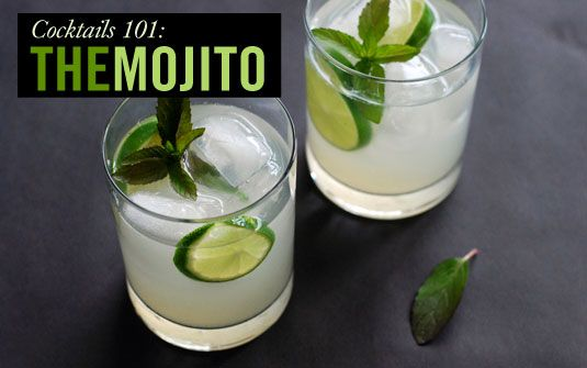 Sweet, effervescent, and refreshing, the mojito is the perfect cool-down drink to kick off a summer evening.