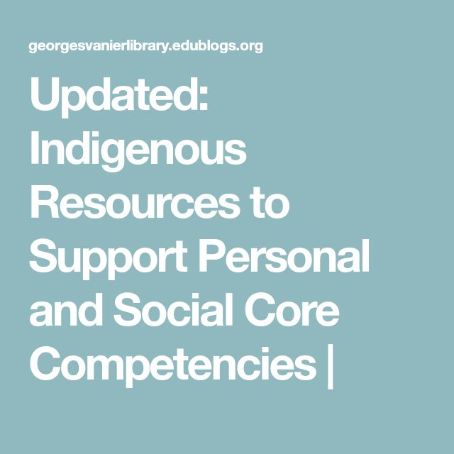 Updated: Indigenous Resources to Support Personal and Social Core Competencies |