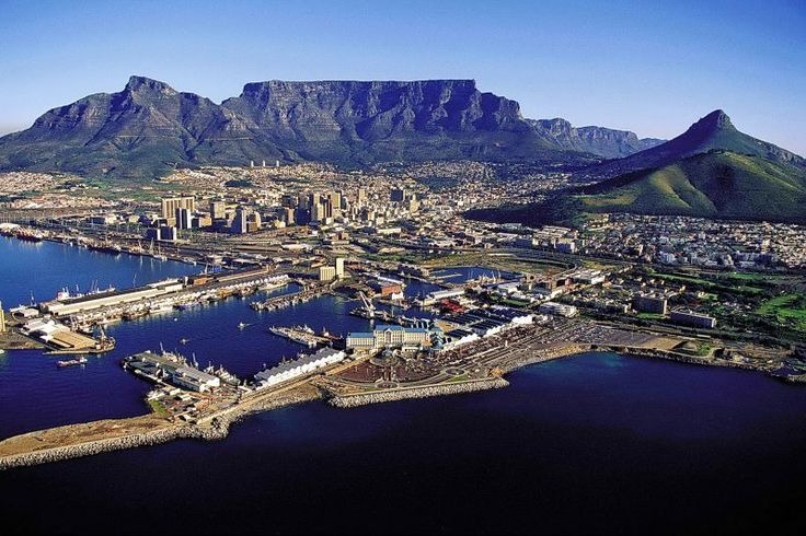 V & A Waterfront and the beautiful Table Mountain in the background.