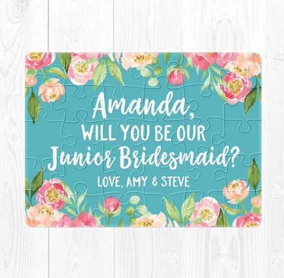 Junior Bridesmaid Puzzle Proposal Junior Bridesmaid