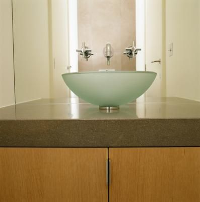 How to clean hard water spots on a glass vessel sink for How to clean a bathroom sink