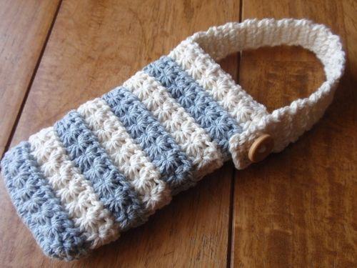 Free crochet pattern Phone case スタークロッシェ編み 携帯ケースの作り方