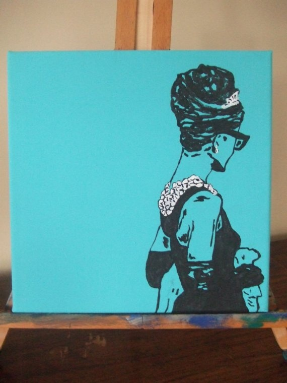 Breakfast at Tiffany's Pop Art Painting Audrey by goldenelephant, $25.00