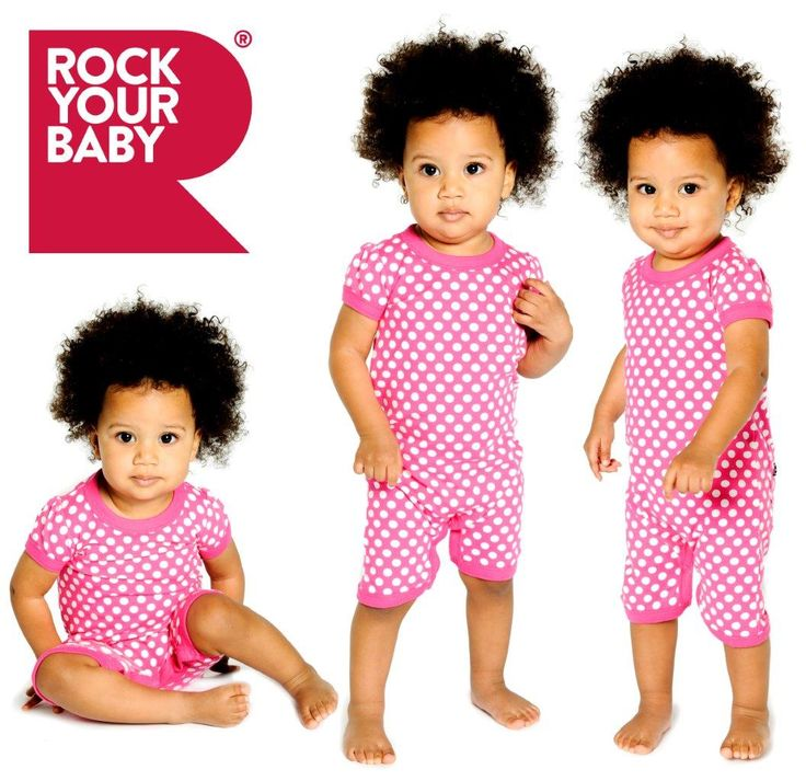Pink Polka short sleeve playsuit | Rock Your Baby | www.rockyourbaby.com