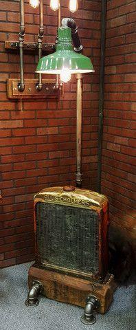 Steampunk Industrial Allis Chalmers Radiator Floor Lamp - #825 - SOLD