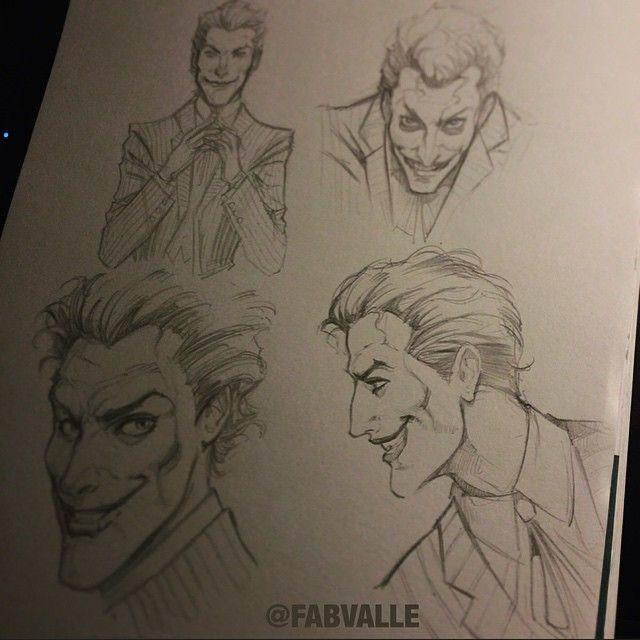 Joker poses study - pencil sketch  #fabiovalleillustrations #Joker #Sketch #Comics #Batman #Drawing #Art #DCComics
