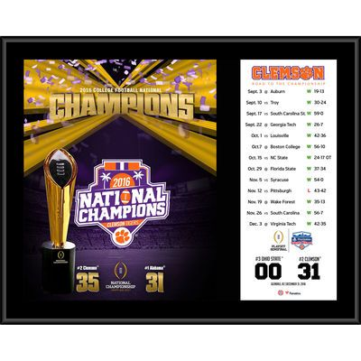 "Clemson Tigers Fanatics Authentic College Football Playoff 2016 National Champions 12"" x 15"" Sublimated Plaque"