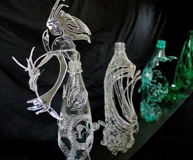 Calaveras troquel botellas de pl stico pet reciclaje - Manualidades con vasos de plastico ...