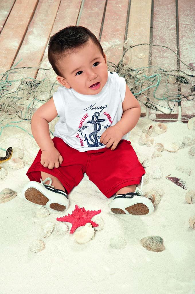 Camiseta machão navy com bermuda Menino