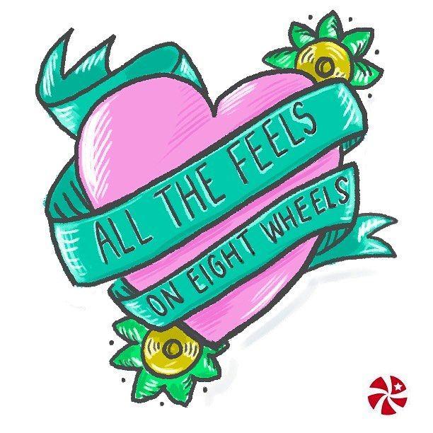 Day 19/100 It's the weekend! Get those skates on! #100daysofderbydoodles #the100dayproject #rollerderby #derbylove #derbylife #doodle #sketch #rollerskating #iloveskating #photoshop #tattoo #instart #jammercandy by jammercandy