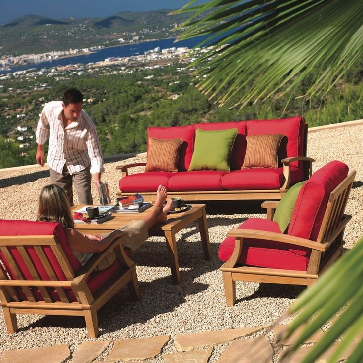 teak outdoor patio furniture with cushions