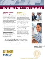 Accounting Certificate Program Factsheet elective will have classroom work....has both cert and m in a