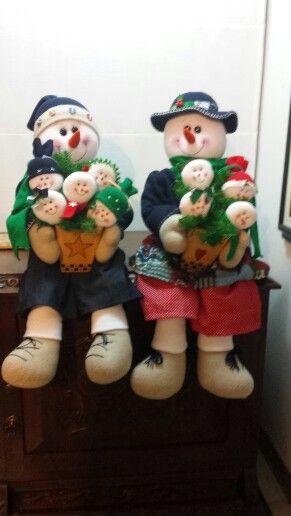 Familia de nieve completa