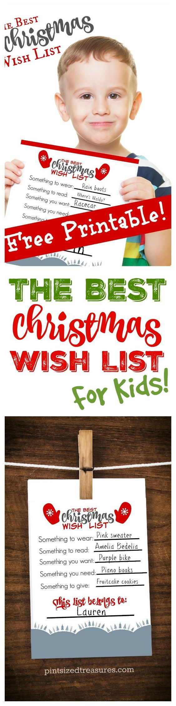 Attention Parents! Your kids NEED this Christmas wish list for the holidays! It's free, printable and promotes thoughtfulness and GIVING! @alicanwrite