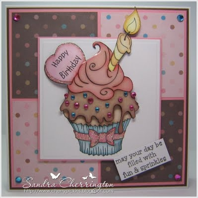 """""""Birthday Cupcake"""" image and """"Birthday Cupcake papers"""" set....both available to purchase from THE PAPER SHELTER"""