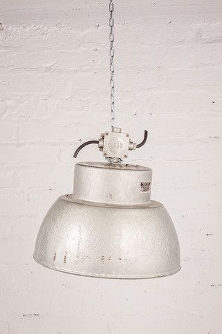 Silver Large Lamp with Centered Bulb Fitting. If you like this check out our shop http://industrialthings.com/