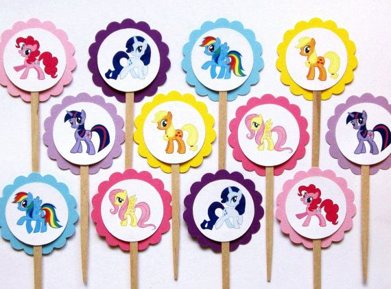 Hey, I found this really awesome Etsy listing at https://www.etsy.com/listing/207412215/my-little-pony-cupcake-toppers-my-little