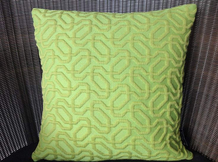 Apple Green Squiggle Cushion - Medium