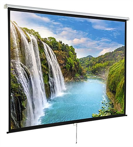95 X 71 Projector Screen For Wall Or Ceiling Use 120 Inch Diagonal Black At Home Movie Theater Feature Film Home Theater
