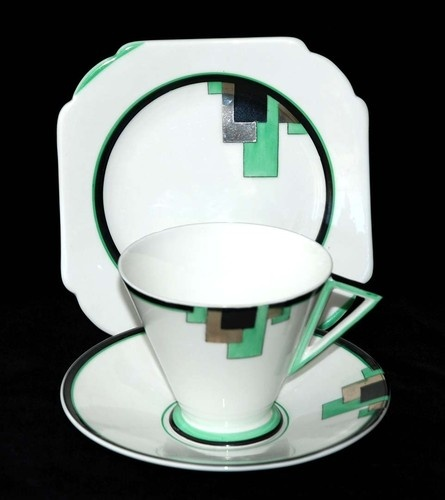 GREEN BLOCKS EVE SHELLEY ART DECO ORIGINAL ===================================== | eBay