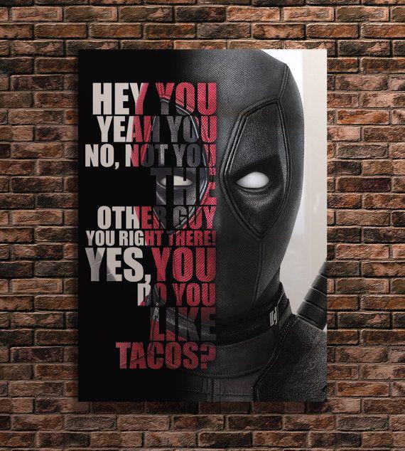 Deadpool Print berühmten Film Zitate Kunst von MintMindPrint