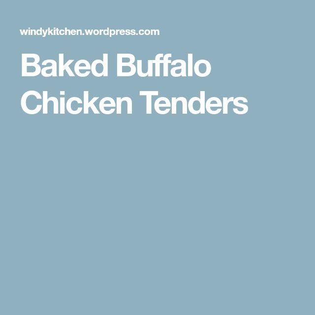 Baked Buffalo Chicken Tenders