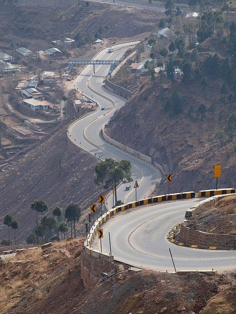 Expressway to Murree, Pakistan. — in Murree.