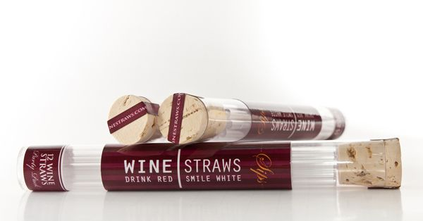 wine straws. drink red, smile white. love this!