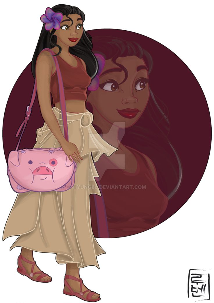 Disney University - Moana by Hyung86 Moana is brave, impetuous and is always full of energy. She is studying theology and loves mythology, legends and fables,and series like The X-Files and Supernatural.  Loves Gravity Falls and Over the Garden Wall (her favorite animation series) Her bestfriend is Lilo and usually go together to photograph historic monuments and ancient sites