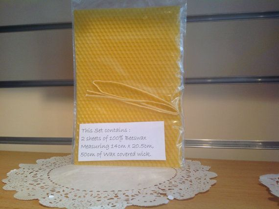 Beeswax Candle making kit inc 2 sheets of bees wax by artofcandles, £2.75