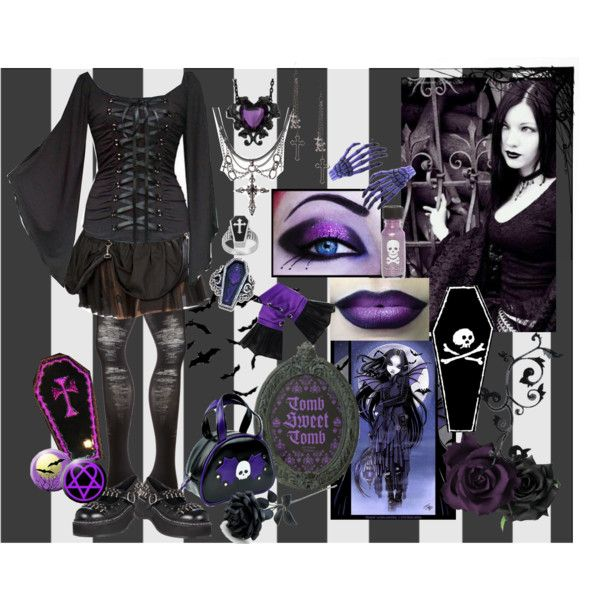 U0026quot;Death is sweetu0026quot; by octoburfrost on Polyvore #goth #gothic #gothgothu2026 | Urban Gothic Punk Scene ...