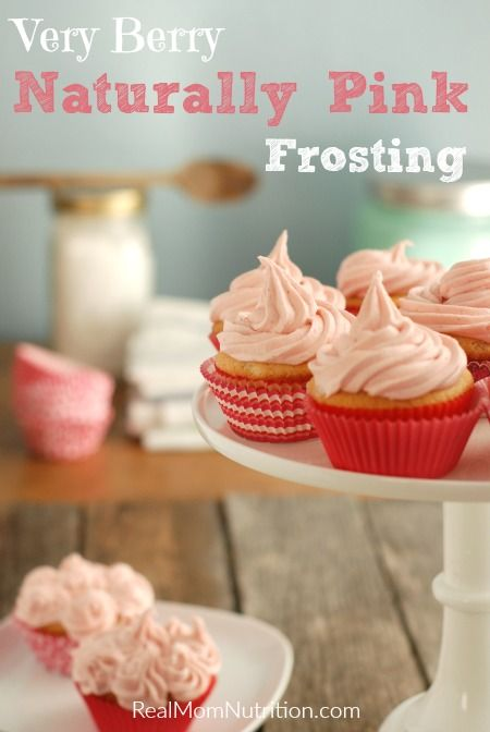 How to make naturally pink frosting for cookies and cupcakes!