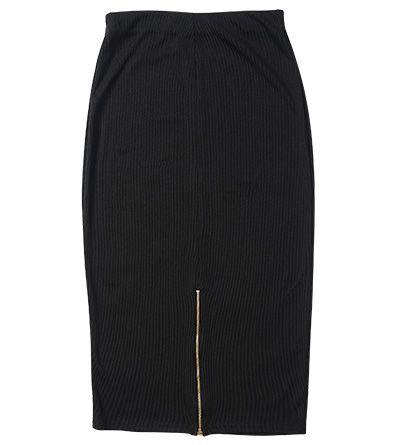 Back Zip Detail Pencil Skirt