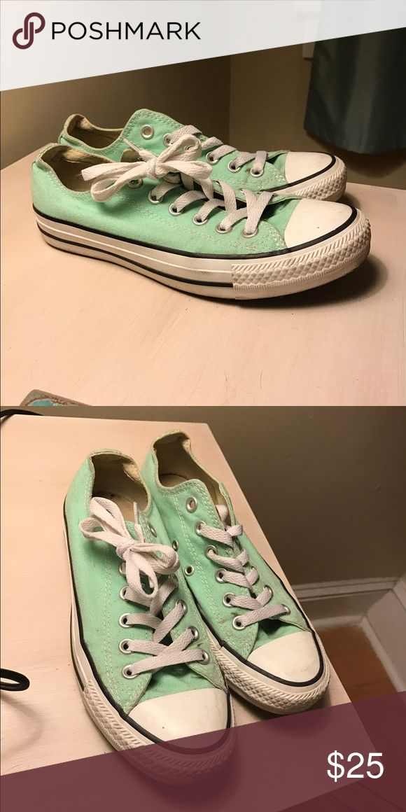 Light turquoise women's converse, size 5 Size 5 women's light turquoise converse. Hardly worn. Converse Shoes Sneakers