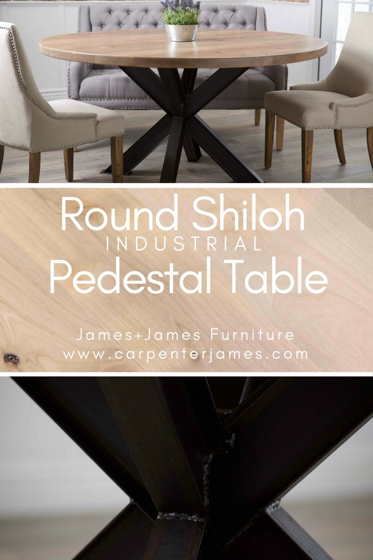 Learn More About The Round Shiloh Industrial Pedestal Table From James+James