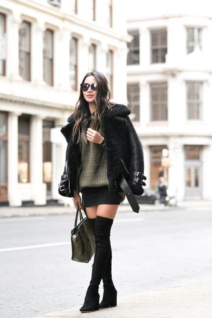 Olive Love :: Shearling jacket
