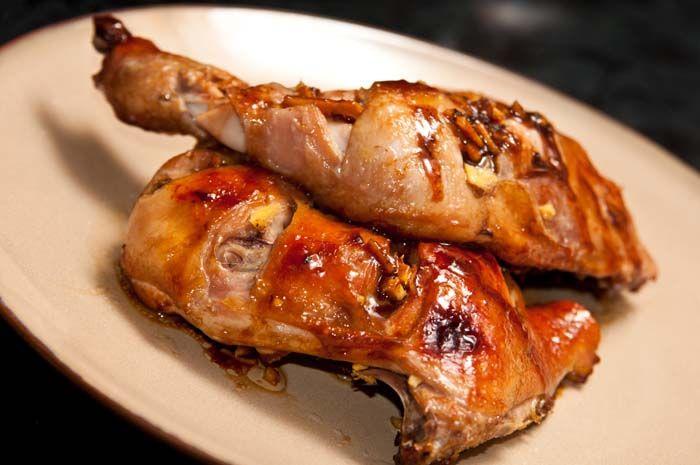 muslos de pollo al horno con jengibre y miel http://www.comedera.com/muslos-de-pollo-al-horno-con-jengibre-y-miel/