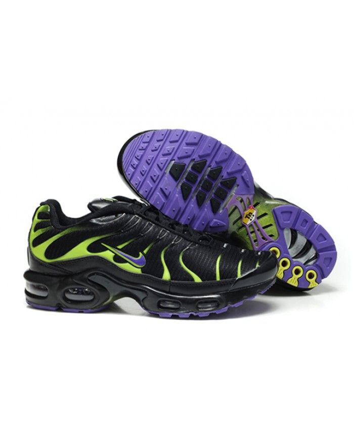 Cheap Nike Air Max TN Mens Black Green Purple Sale