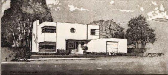 A Few More Art Deco and Art Moderne House Plans   Art Deco ...