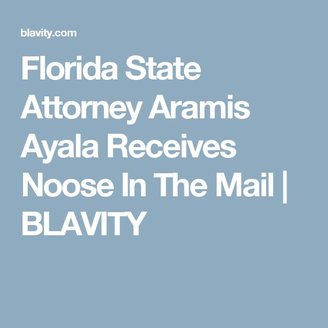Florida State Attorney Aramis Ayala Receives Noose In The Mail | BLAVITY
