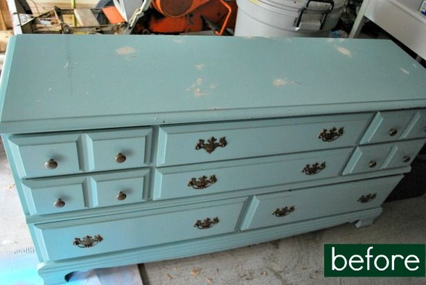 before   after: two-tone dresser