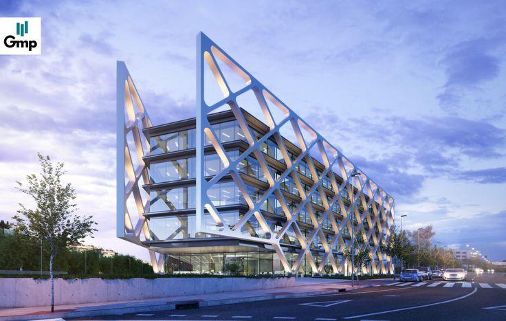 Diseño sostenible y vanguardista concebido por el estudio Rafael de La-Hoz #rafaeldelahoz #oxxeo #oficinasenalquiler #madrid #vanguardista #arquitectura #grupogmp
