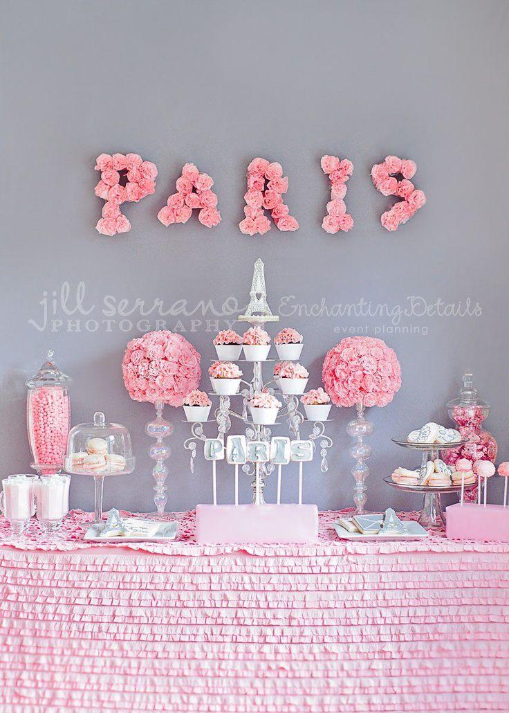 Paris Themed Baby Shower Ideas: Adorable Dessert Table Ideas #parisparty  #parisshower #babyshowerideas