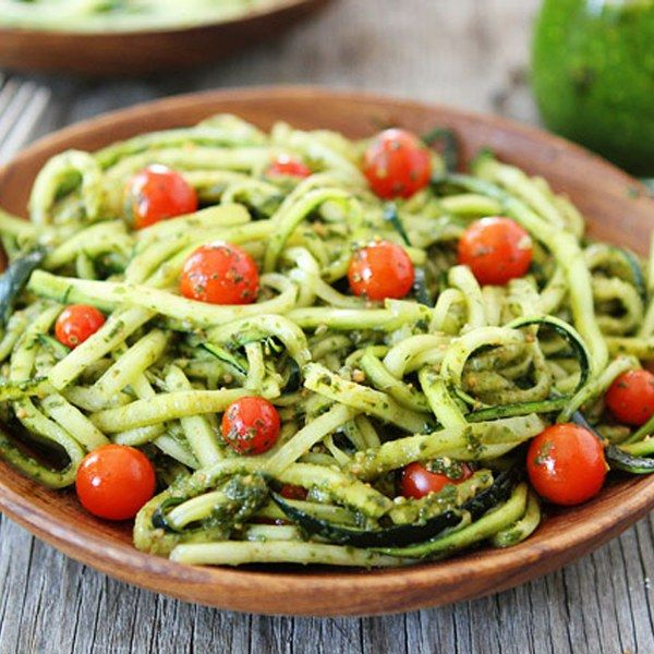 A healthy twist to family dinner with delicious pasta made from veggies.