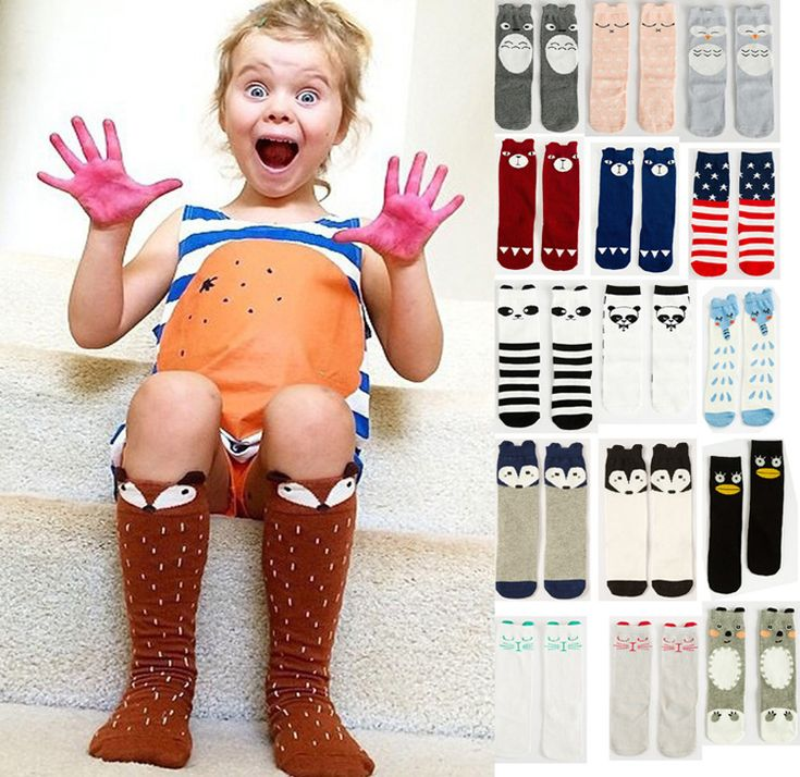Autumn Toddler New Knee High Girls Socks Cartoon Animal Baby Leg Warmers Girls Boys Fall Winter Leg Warmers Fox Socks Knee Pad