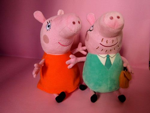 Peppa Pig Daddy pig and Mummy pig Lovely Plush Toyat EVToys.com