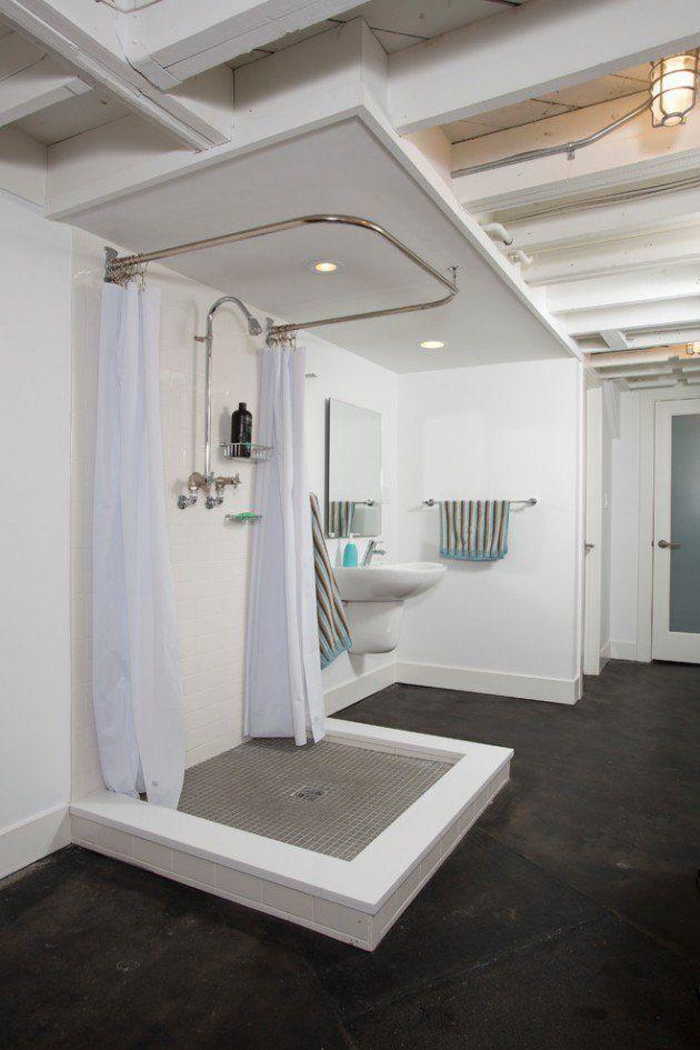 15 Mind Blowing Industrial Bathroom Designs For Inspiration Basement Bathroom Remodeling Basement Bathroom Design Bathroom Floor Plans