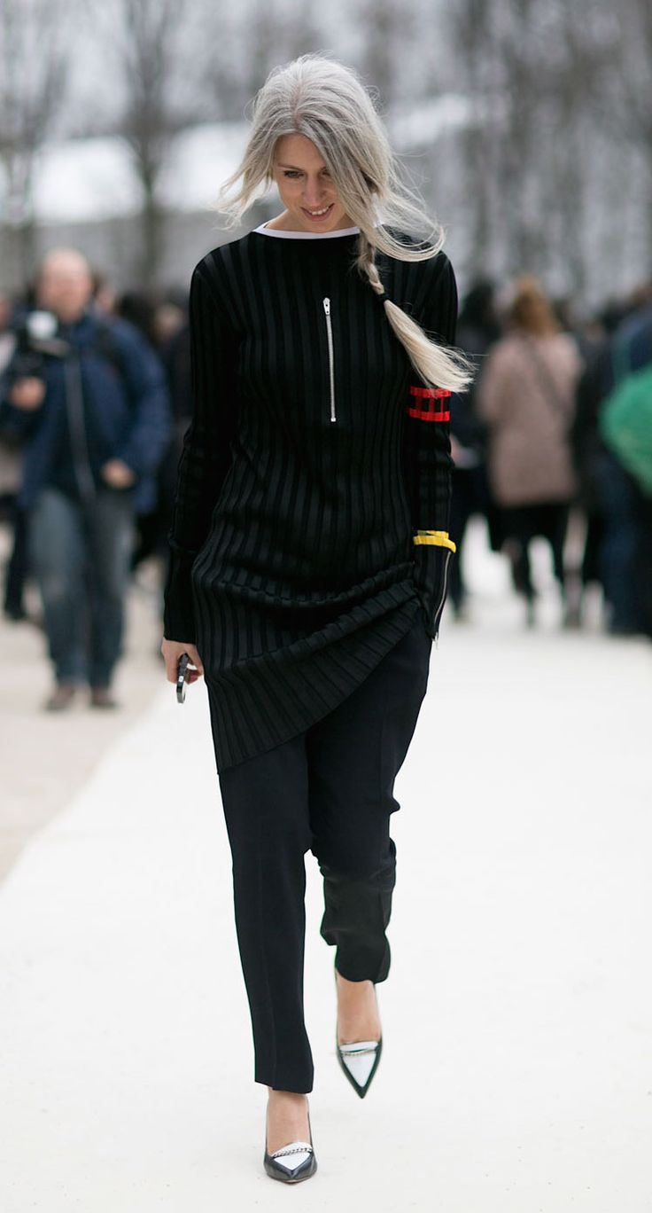 Sarah Harris. Paris Fashion Week, Fall 2015.