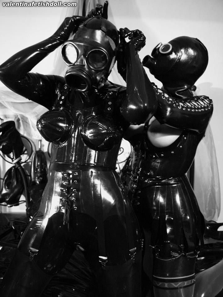 Halloween quality latex rubber full head conquer gas mask full set fetish wear black